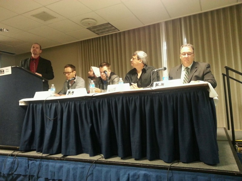 "Michael Rosembaum, TV's Lex Luthor crashed the ""TV & Film Production in Sacramento"" panel with Brian Jagger, Doug Stanley (Emmy Award winning producer), Ryan Todd (YouTube's Smosh), Gary Martin (Access Sacramento) and Matthew Donaldson (To Find a Monster)"