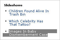 Awful slideshow: Images In Baby Dismemberment Case