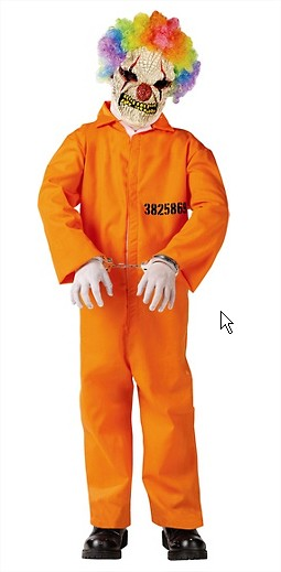 Kid's costume: Convict Clown