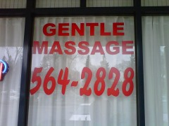 Gentle Massage is open late.