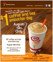 $1 Jamba Juice Coffee & Tea Smoothies